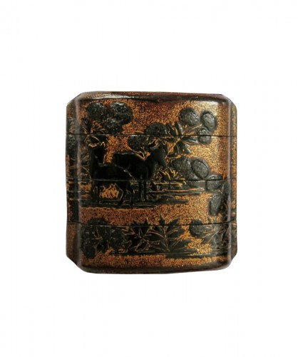 Early 17th century Japanese urushi lacquer Inro
