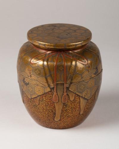 Natsume Japanese gold lacquer Tea box, Japan Edo 18th century - Asian Art & Antiques Style