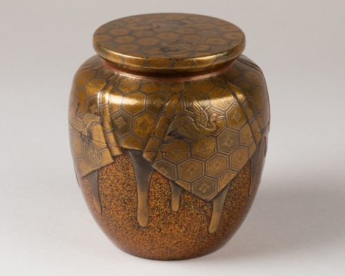 18th century - Natsume Japanese gold lacquer Tea box, Japan Edo 18th century