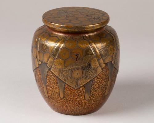 Antiquités - Natsume Japanese gold lacquer Tea box, Japan Edo 18th century