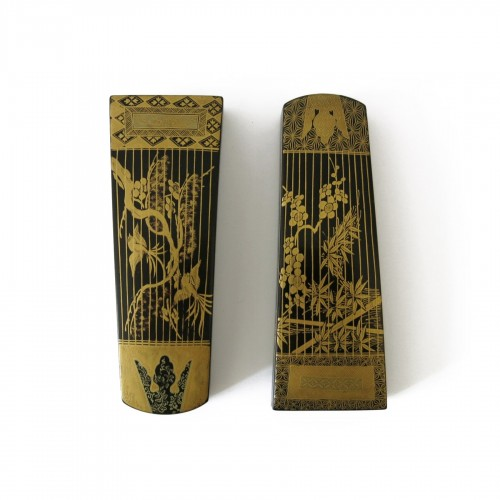 Kôg ôSmall urushi lacquer instruments boxes, Japan Edo 18th century