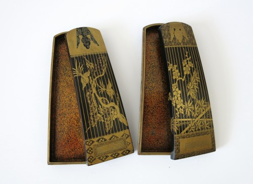 18th century - Kôg ôSmall urushi lacquer instruments boxes, Japan Edo 18th century