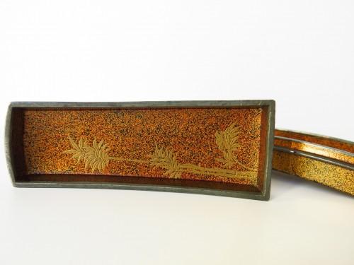 Kôgô Small Koto urushi lacquer box. Japan Edo -