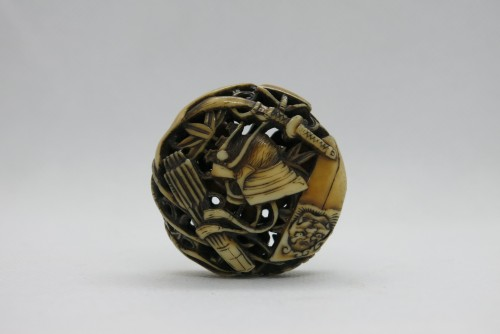 - Netsuke  – Manju Netsuke of Samurai armor accessories. Japan Edo