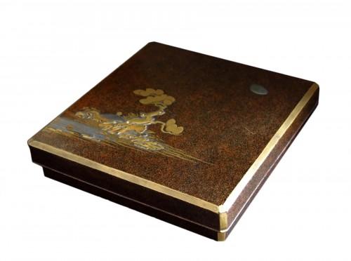 SUZURIBAKO – Japanese urushi lacquer.  Japan Edo 18th century