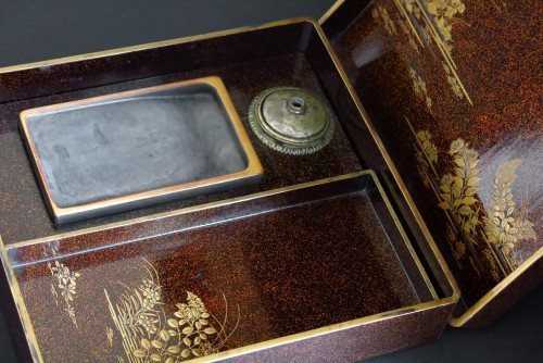 Asian Art & Antiques  - SUZURIBAKO – Japanese urushi lacquer.  Japan Edo 18th century