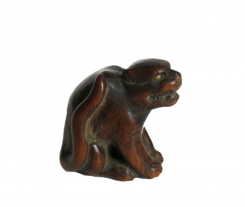 NETSUKE – A wood model of a tiger