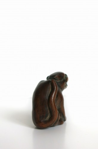 NETSUKE – A wood model of a tiger -