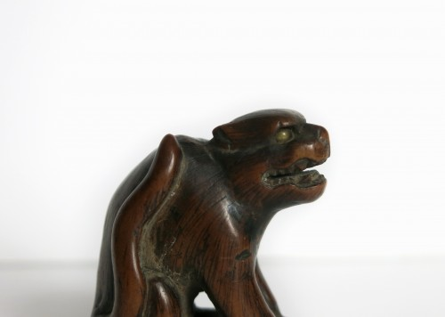 Antiquités - NETSUKE – A wood model of a tiger