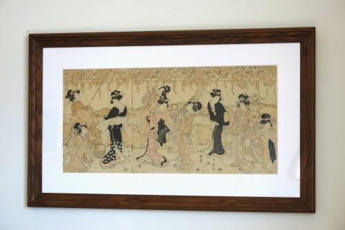 Asian Art & Antiques  - PRINT - By Shunsen – Triptych. Collection Ernest Le Veel