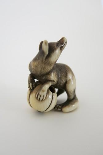 19th century - NETSUKE – A very fine netsuke of a fox. Japan Edo