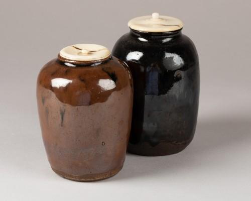- CHA-IRE – Beautiful ceramic tea caddy Japan Edo