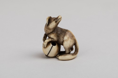 Netsuke – A very fine netsuke of a fox. Japan Edo - Asian Art & Antiques Style