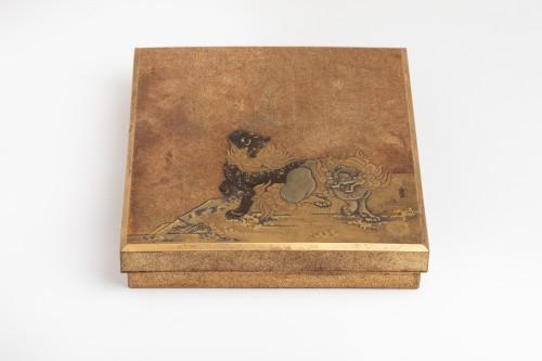 SUZURIBAKO Rare and important writing box. Japanese lacquer. Japan Edo - Asian Works of Art Style