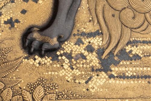 SUZURIBAKO Rare and important writing box. Japanese lacquer. Japan Edo -
