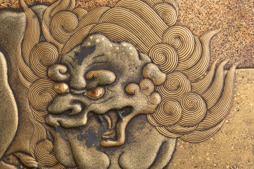 Antiquités - SUZURIBAKO Rare and important writing box. Japanese lacquer. Japan Edo