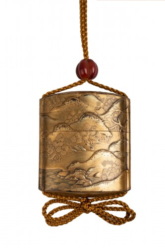 Inro - Gold japanese lacquer. Japan Edo