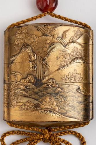Inro - Gold japanese lacquer. Japan Edo -