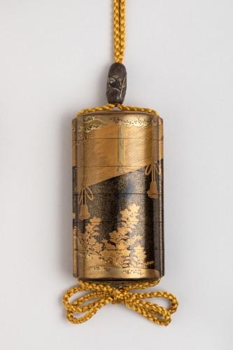 Inro - Gold lacquer of Sudare. Japan Edo -