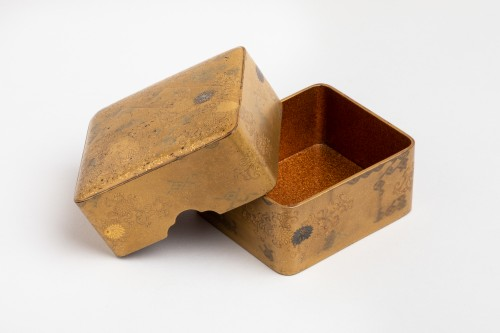 KOBAKO – Small japanese urushi gold lacquer box names komori Japan XVIIIe - Asian Art & Antiques Style