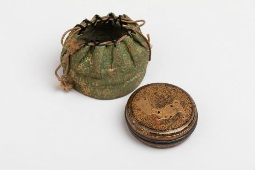 KÔGÔ – A circular japanese lacquer box for incense. Japan Edo - Asian Art & Antiques Style