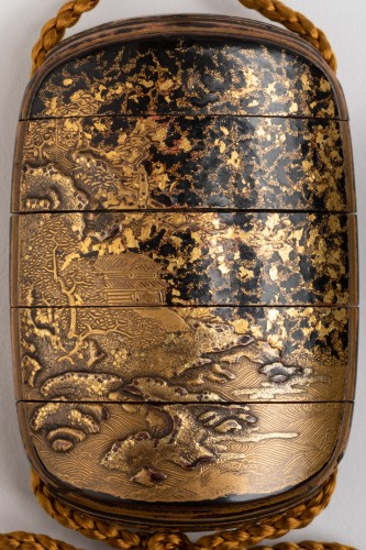 Five-case japanese gold urushi lacquer Inro Japan Edo fin 17th-early 18th - Asian Works of Art Style