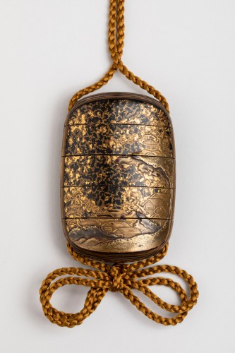 Asian Art & Antiques  - Five-case japanese gold urushi lacquer Inro Japan Edo fin 17th-early 18th
