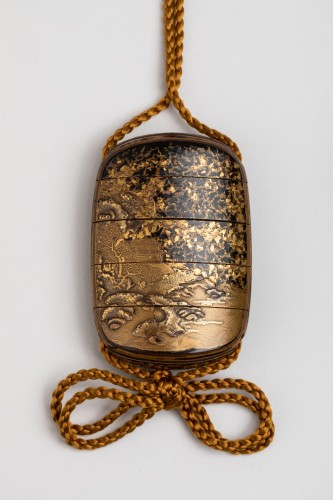 Five-case japanese gold urushi lacquer Inro Japan Edo fin 17th-early 18th -