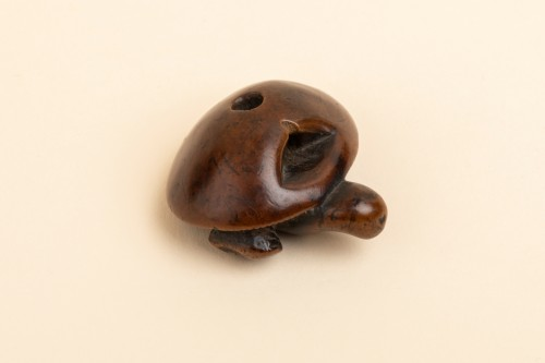 Netsuke - chestnut and a plump mushroom. Japan Edo 19th - Asian Works of Art Style