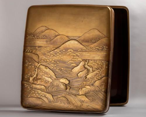 Ryoshibako - Gold laquer document box Japan Edo 19th century - Asian Art & Antiques Style