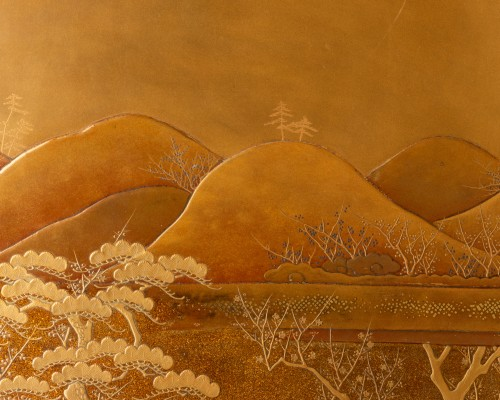 Antiquités - Ryoshibako - Gold laquer document box Japan Edo 19th century