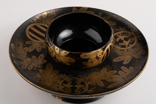Tenmoku –  A Tea bowl stand Japan late Edo(1603-1868)/early Meiji(1868-1912 - Asian Art & Antiques Style