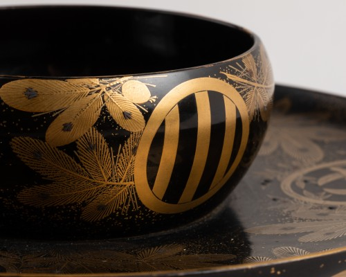 Asian Art & Antiques  - Tenmoku –  A Tea bowl stand Japan late Edo(1603-1868)/early Meiji(1868-1912