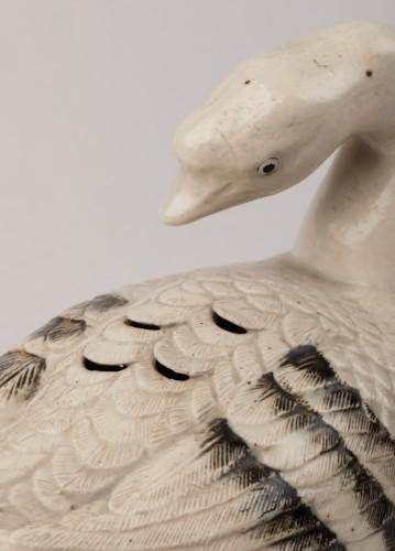 18th century - Goose shaped ceramic kogo, Japon Edo 18th century