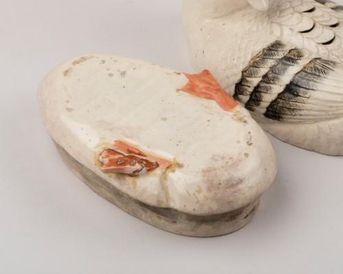 Antiquités - Goose shaped ceramic kogo, Japon Edo 18th century