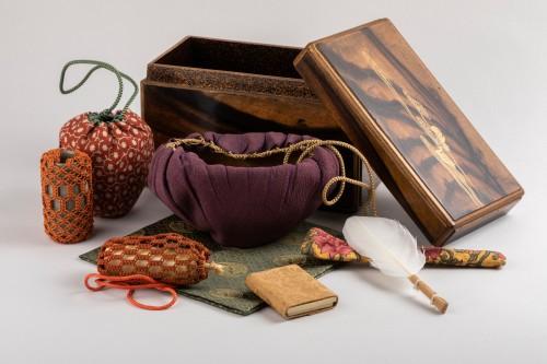 19th century - Inrobuta Set of tea ceremony ustensils, Collection Kenzo. Japon Edo
