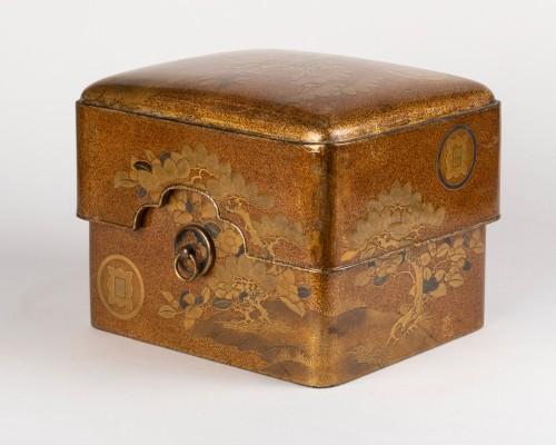 Tebako - Gold lacquer box with landscape Japan Edo 19th - Asian Works of Art Style