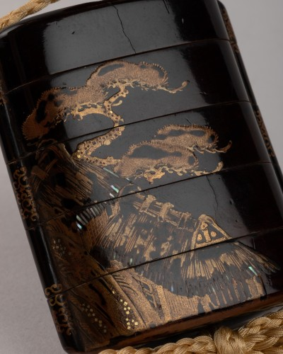 Inro- Attributed to Koetsu's studio (Limpa school), Japan Edo 17th -