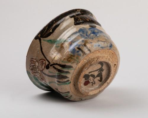 Tea bowl (chawan) inscribed Kenzan, Rinpa school, Japan Edo 19th - Asian Works of Art Style