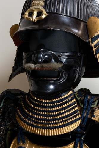Armor in gold lacquer laced in dark blue Japan Edo End of 17th -
