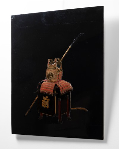 Asian Works of Art  - Lacquer panel of Samurai armor Japan Edo End of 18th