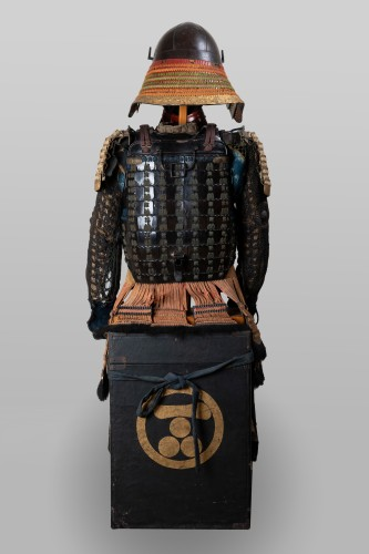Armor in lacquer laced in orange and green Japan Edo end of 17th - Collectibles Style
