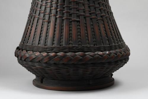 Ikebana bamboo flower basket Japan 20 century -