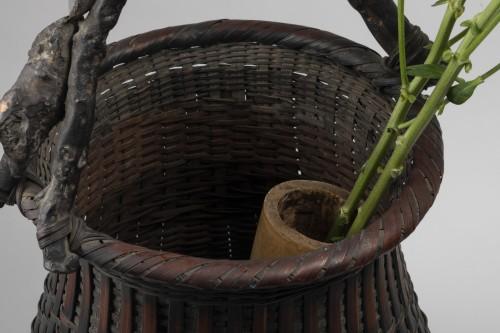 20th century - Ikebana bamboo flower basket Japan 20 century