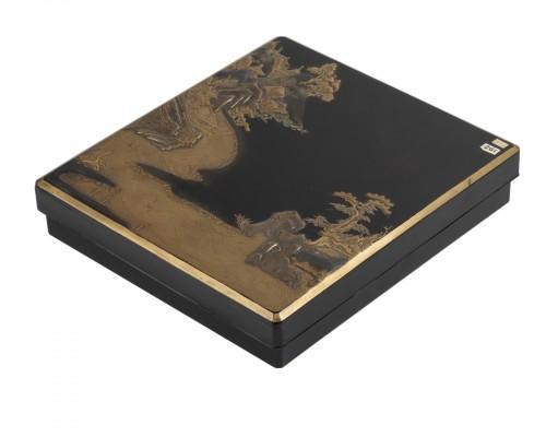 Suzuribako with landscape Japan Edo End of 17th century