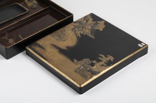 Asian Works of Art  - Suzuribako with landscape Japan Edo End of 17th century