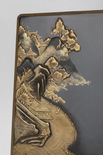17th century - Suzuribako with landscape Japan Edo End of 17th century