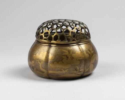 Akoda Koro - pumkin shape incense burner Japan Edo 18e - Asian Works of Art Style