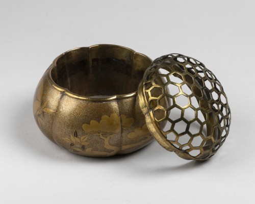 18th century - Akoda Koro - pumkin shape incense burner Japan Edo 18e