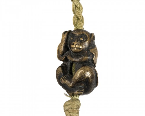 Saru (monkey) shaped Ojime Japan Edo early 19th
